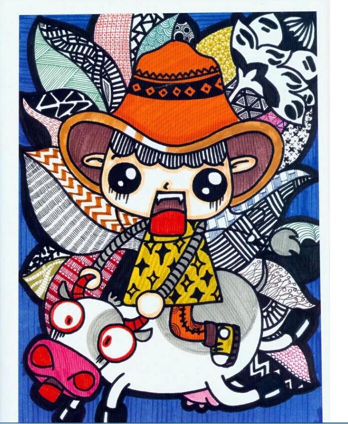 小小美术家 - (创意水彩笔画,创意线描画,创意油画棒画,创意卡通画)全