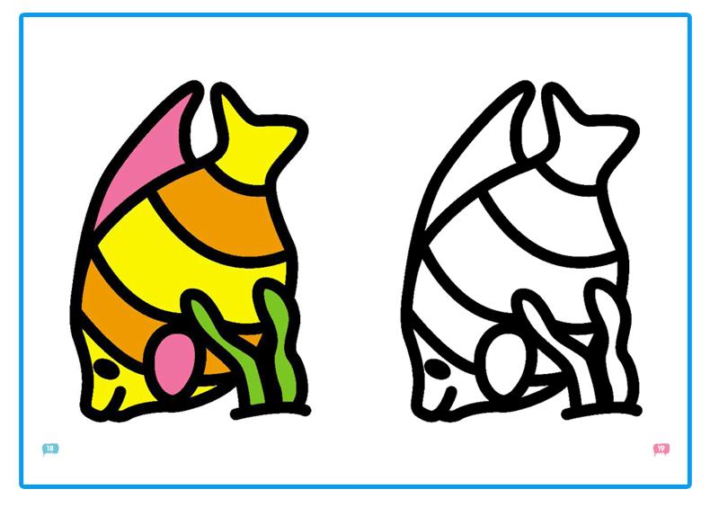 小笨熊学画书 宝宝涂色书全8册 0-3岁幼儿童涂色本儿童填色画画涂鸦本