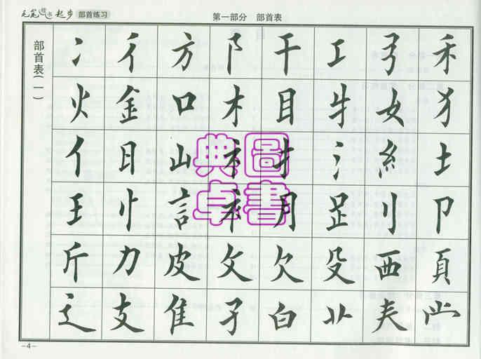 田雪松楷书基本笔画讲解第七讲钩1毛笔字入门教程