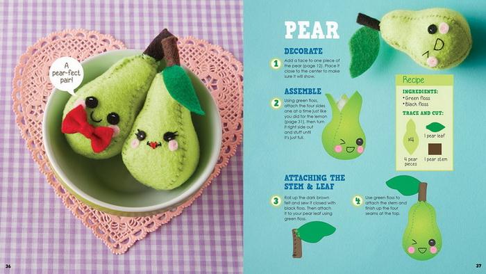 (制成品拍照图)    跟着《小零食针线活》一起绣出你最爱的毛绒食物
