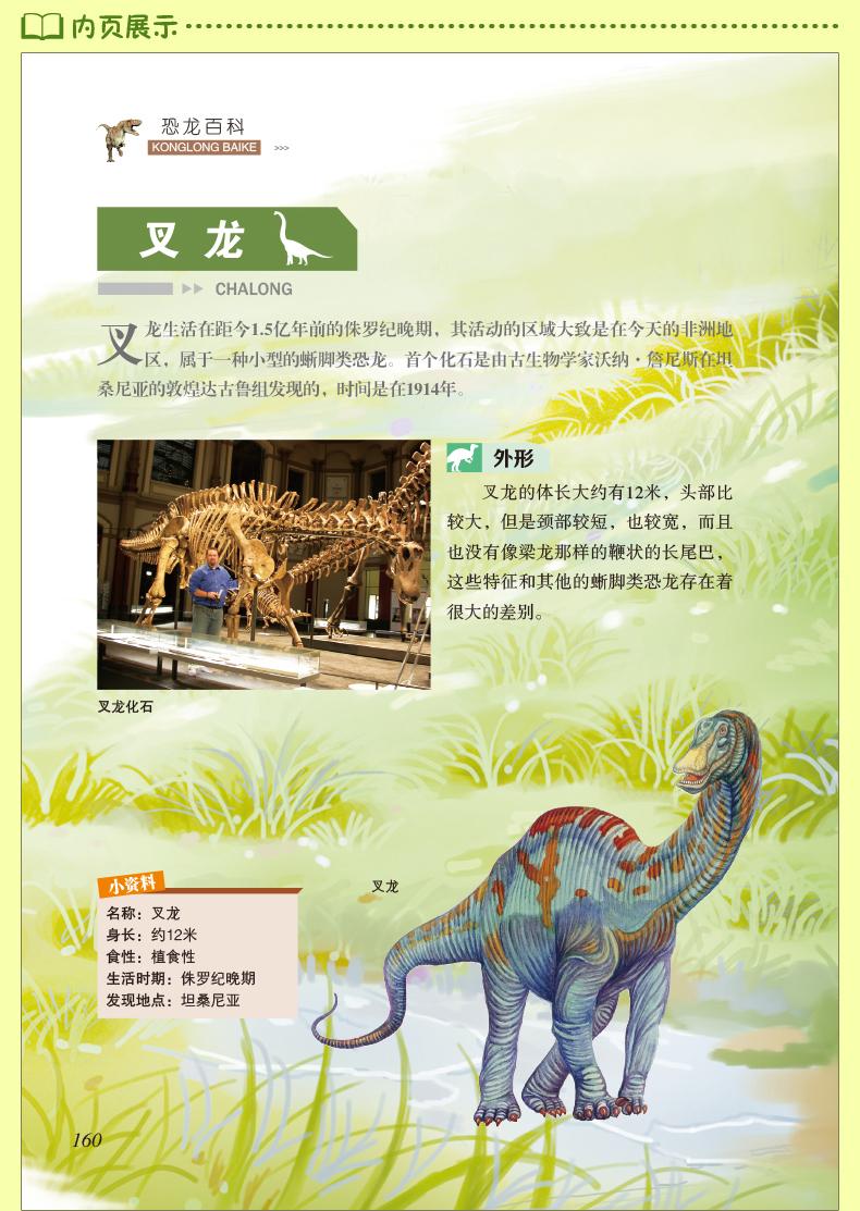 儿童恐龙百科全书小学版少儿版动物世界恐龙大百科书探秘揭秘史前恐龙