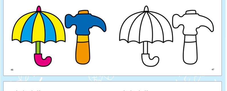 小手涂鸦 幼儿简笔画全10册 3-6岁简笔画大全幼儿园大小中班书籍人物