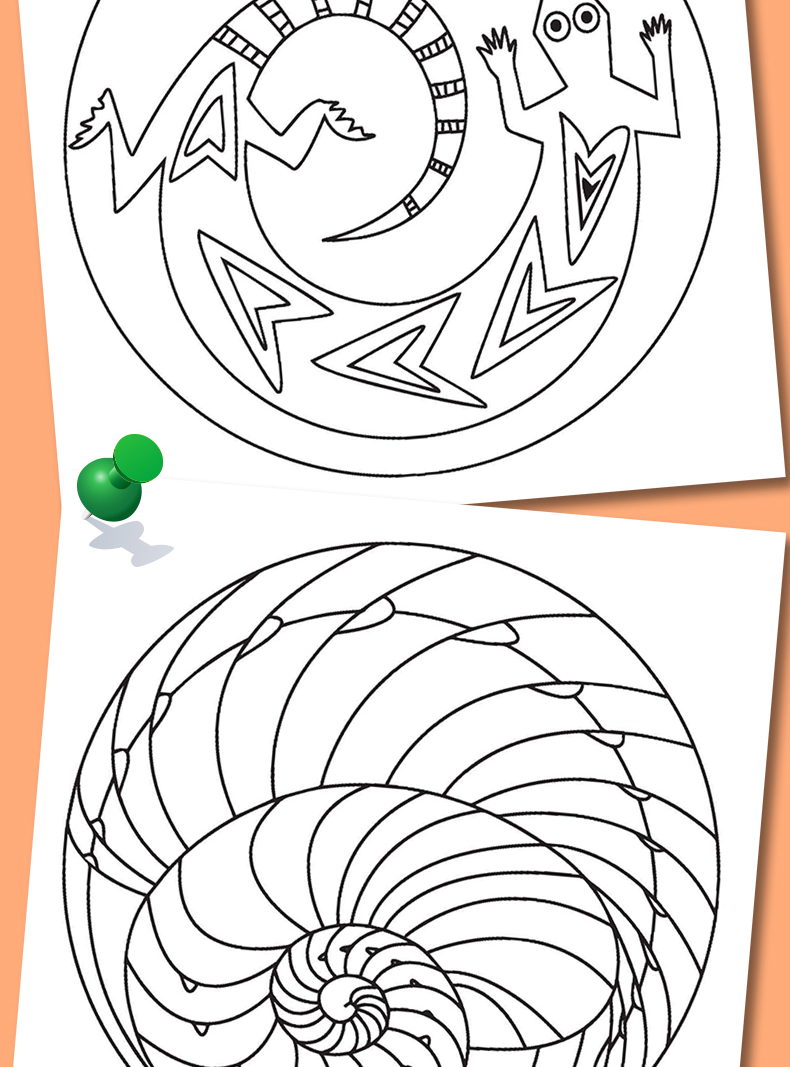 幼儿彩绘曼陀罗6册 2-3-4岁儿童绘画图书 小手涂色小孩学画画 初学者