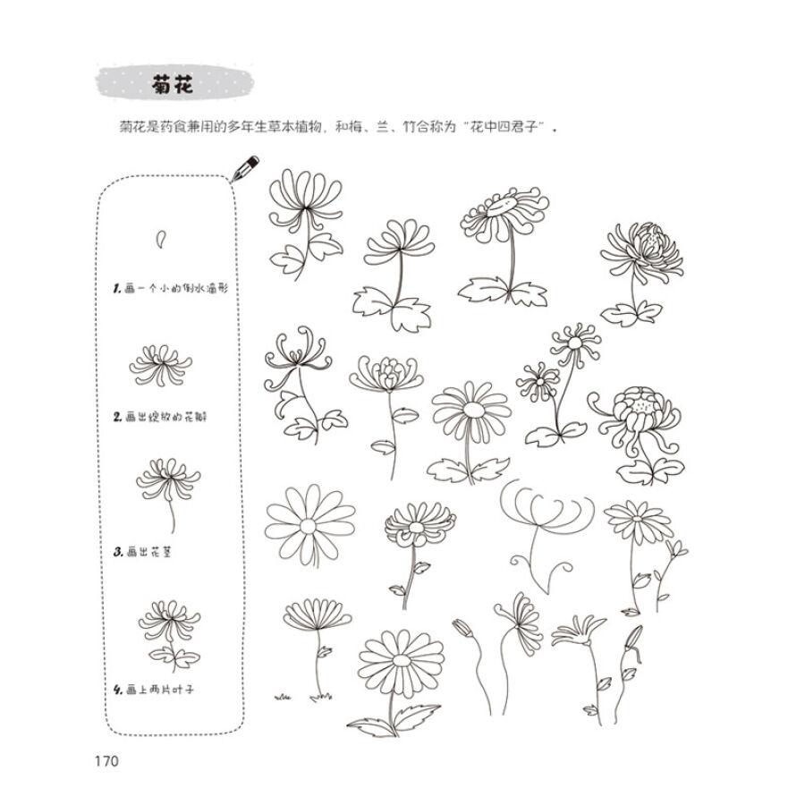 极简简笔画6000例 简笔画大全 教师教材书入门儿童图书3-6-7-10岁幼儿
