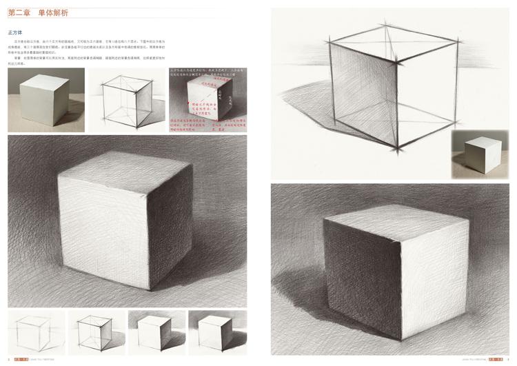 2018国美励志 讲透一本通 素描几何体单体静物 石膏像人物头像 全面