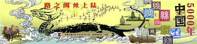 丝绸之路手绘作品图片